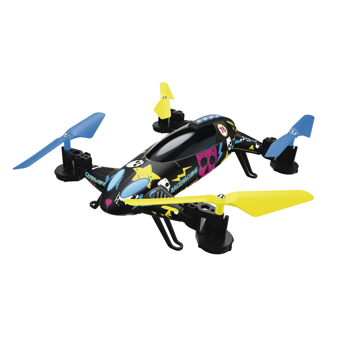 abx High-Res Image - Hama, Racemachine 2-in-1 Quadrocopter/RC Car, 6-Axis Gyro-Sensor, 720p Camera
