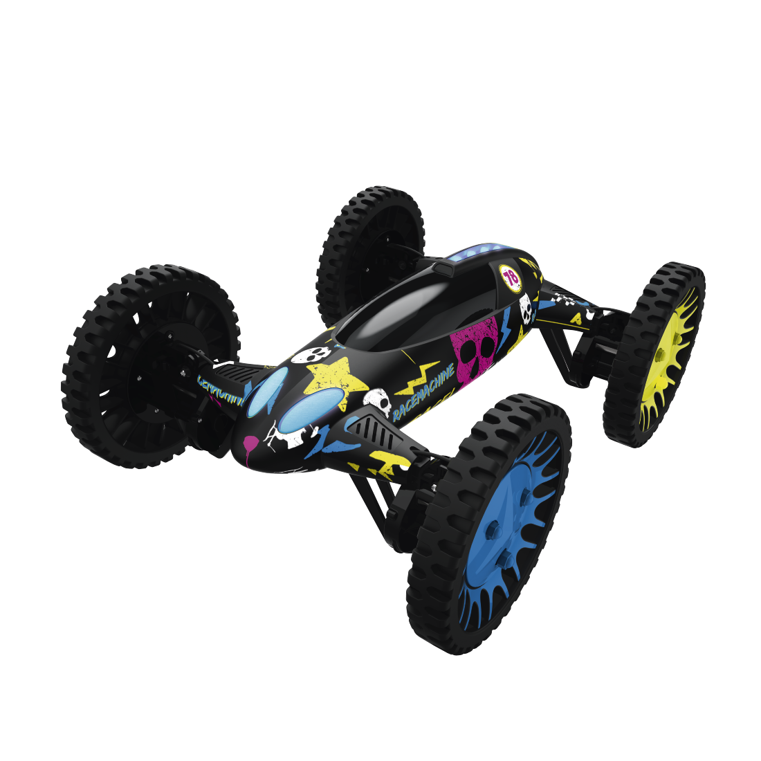 abx2 High-Res Image 2 - Hama, Racemachine 2-in-1 Quadrocopter/RC Car, 6-Axis Gyro-Sensor, 720p Camera