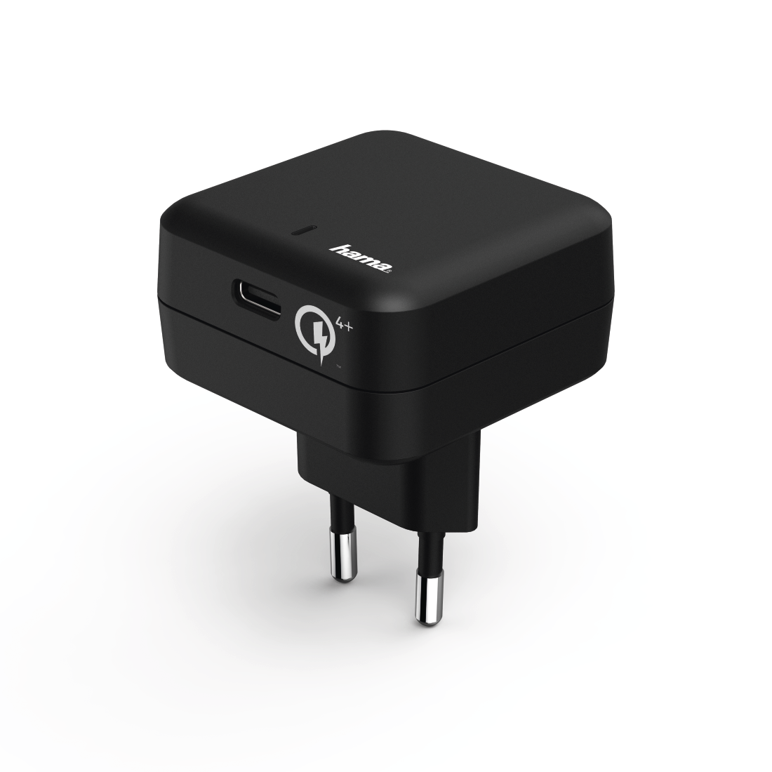 "abx High-Res Image - Hama, ŁADOWARKA SIECIOWA ""Qualcomm® Quick Charge™ 4+ / Power Delivery (PD), CZARN"